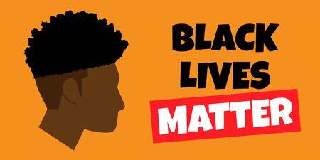 Black Lives Matter protest banner  일러스트