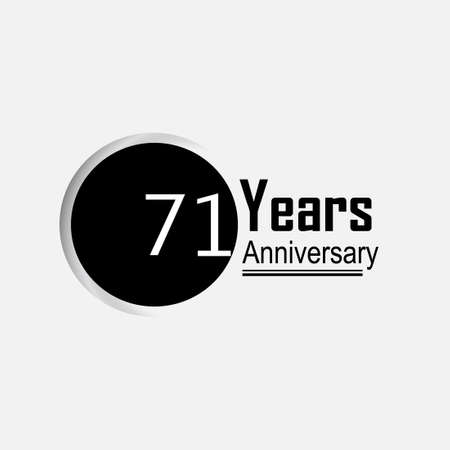 71 Year Anniversary Vector Template Design Illustration Back Circle White Background