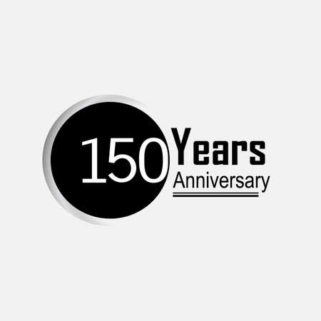 150 Year Anniversary Vector Template Design Illustration Back Circle White Background