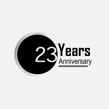 23 Year Anniversary Vector Template Design Illustration Back Circle White Background