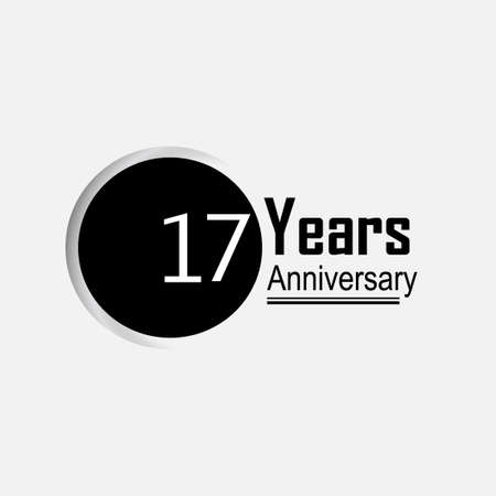 17 Year Anniversary Vector Template Design Illustration Back Circle White Background