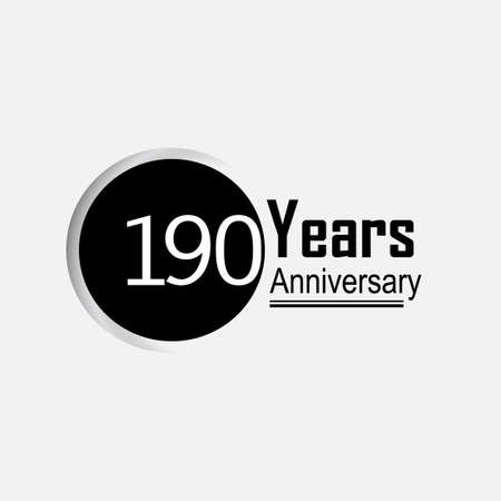 190 Year Anniversary Vector Template Design Illustration Back Circle White Background