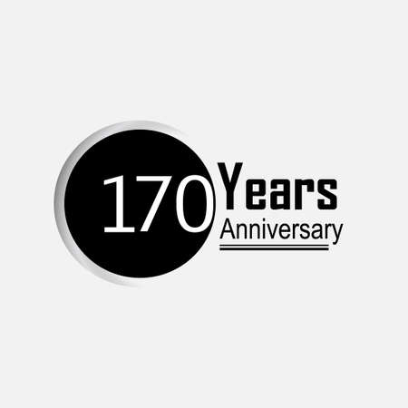 170 Year Anniversary Vector Template Design Illustration Back Circle White Background