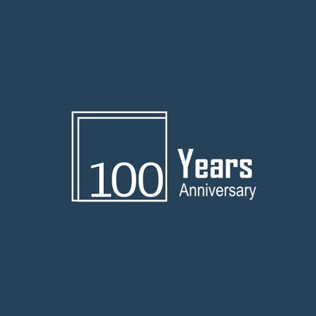 100 Years Anniversary Celebration Black Blue Color Vector Template Design Illustration