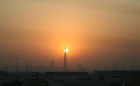 tallest: worlds tallest tower at sunset.
