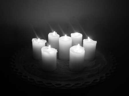 velas en blanco y negro Foto de archivo - 1809067