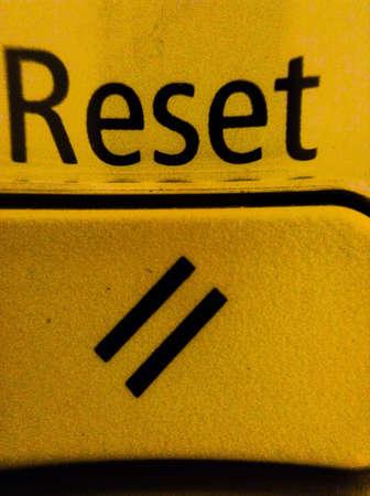 reset: Reset button  Stock Photo