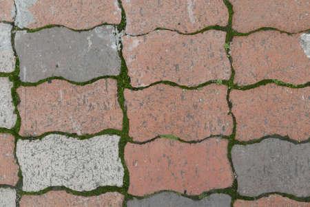 Top view of Interlocking paving stone driveway