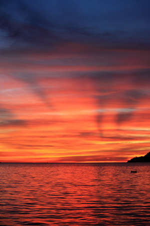 Sunset sea view Stock Photo