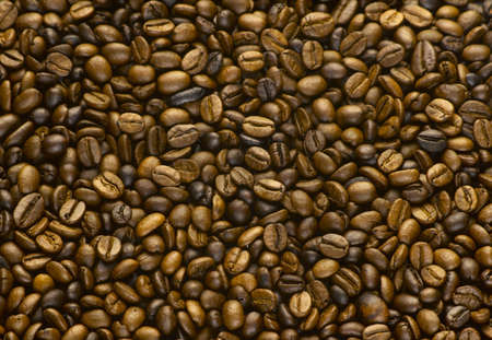 Golden Roasted Coffee Bean Stock Photo