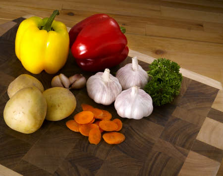 Cutting Board with mix vege