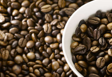 Commercial look coffee beans