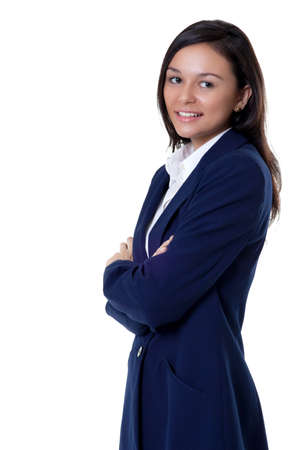 success beautiful business woman with a smile Stock Photo - 16848487