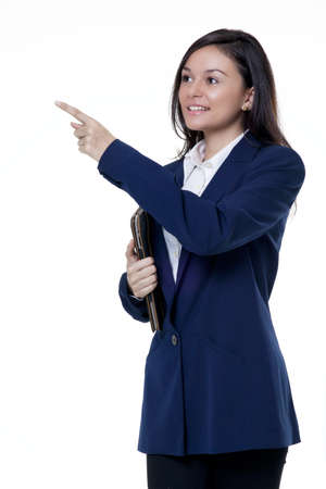 Portrait of a businesswoman holding a note book