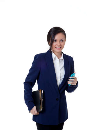 young confident businesswomen holding a notebook Stock Photo