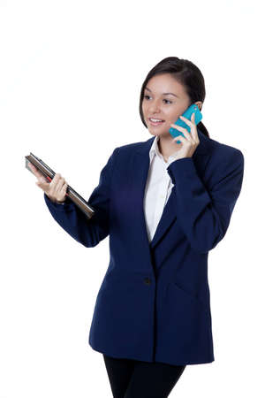 young confident businesswomen talking on the phone