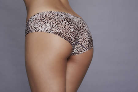 Beautiful women ass with leopard print panty photo