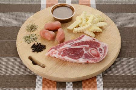 Raw Lamb with herbs