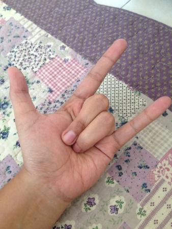 rock hand: gesto di rock mano Archivio Fotografico