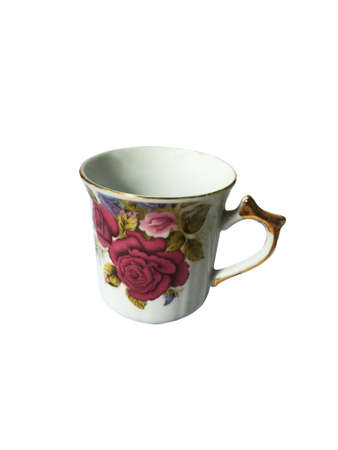 Tea cup on white background for work