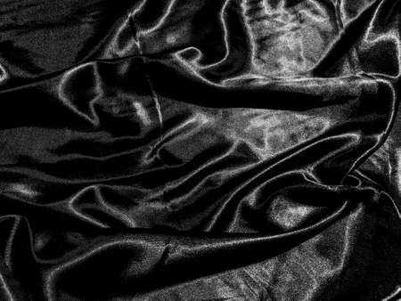 luxury black silk or satin texture background with liquid wave or wavy folds. Wallpaper design