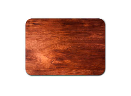 Empty rustic wood board texture isolated on white background with copy space for design or work. clipping path Stock fotó