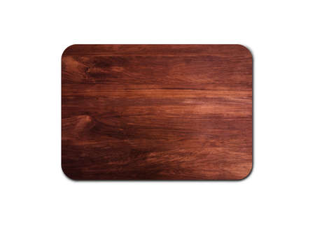 Wooden cutting board texture isolated on white background with clipping path for design