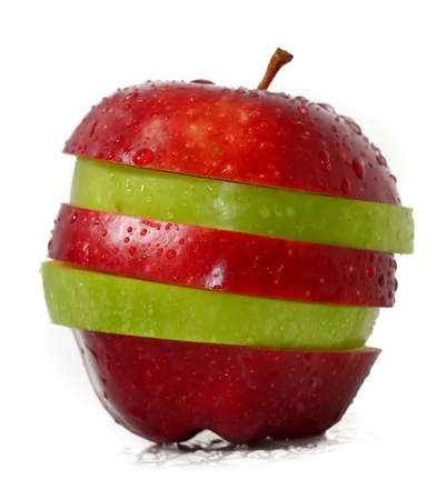 Mixed fruits; Green Apple and Red Apple photo