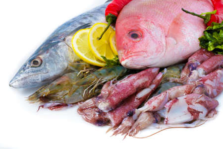 Fresh Sea Food (mackerel and red snapper) photo