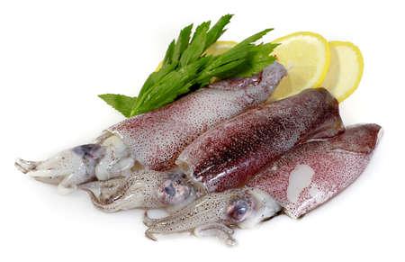 Frische Calamari mit Zitrone