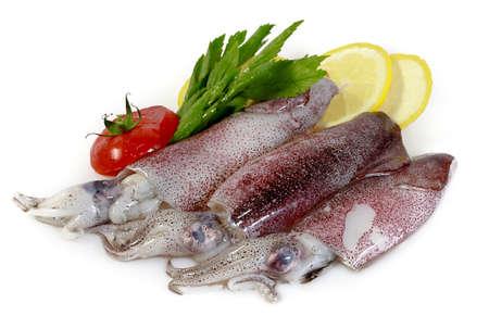 diminutive: Fresh Calamari with Lemon and Tomatoes