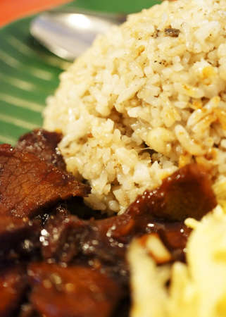 Malaysian traditional dishes  Fried Rice with Stir beef