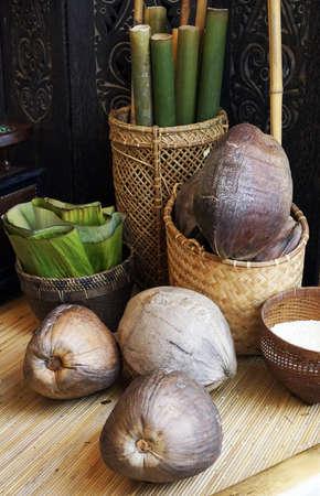 Ingredient to make Traditional Food called Lemang photo
