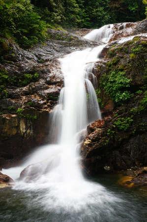 Tropical Waterfalls in Tasik Kenyir, Terengganu, Malaysia