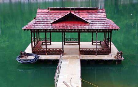 Jetty at Lake Kenyir  Tasik Kenyir , Terengganu Malaysia         photo