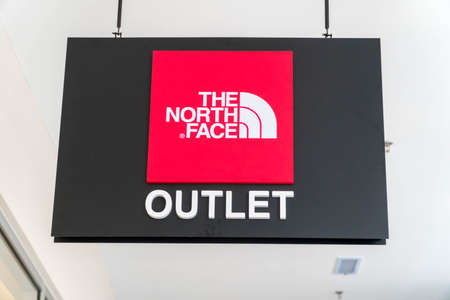 GENTING HIGHLAND, MALAYSIA - SEPTEMBER 16, 2017: The North Face Outlet. The North Face Inc is an American outdoor product company their products could be found in over 3,500 locations across the globe
