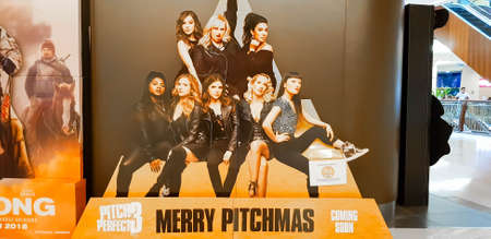 KUALA LUMPUR, MALAYSIA - JANUARY 17, 2018: Merry Pitchmas: Pitch Perfect 3 movie poster, is an American musical comedy film. Éditoriale