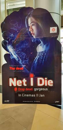 KUALA LUMPUR, MALESIA - 17 GENNAIO 2018: Il poster del film Net I Die, è un film horror della Thailandia del 2017
