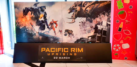 KUALA LUMPUR, MALAYSIA - MARCH 4, 2018: Pacific Rim Uprising movie poster. Pacific Rim Uprising is an upcoming American science fiction action film featuring John Boyega as Jake Pentecost