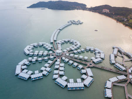 Aerial photography of Lexis Hibiscus in Port Dickson, Malaysia Publikacyjne