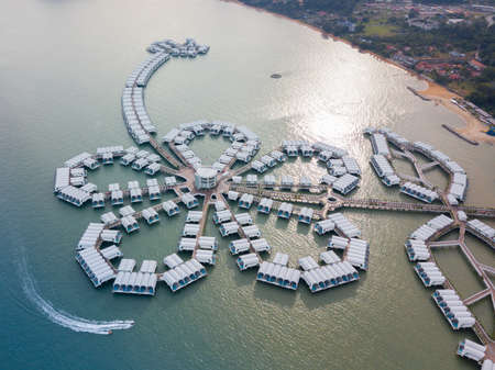 Aerial photography of Lexis Hibiscus in Port Dickson, Malaysia Redakční