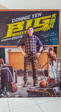 KUALA LUMPUR, MALAYSIA - AUGUST 19, 2018: Big Brother movie poster, the movie starring Donnie Yen as main actor