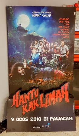 KUALA LUMPUR, MALAYSIA - AUGUST 26, 2018: Hantu Kak Limah movie poster. This movie is directed by Mamat Khalid Редакционное