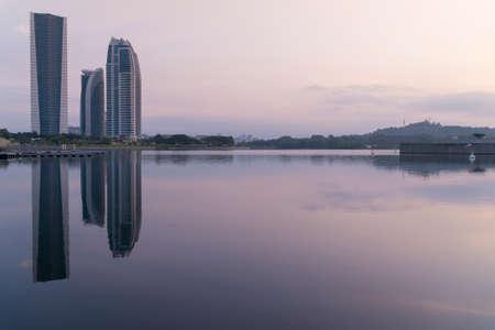 KUALA LUMPUR, MALAYSIA - SEPTEMBER 11, 2018: Modern Architecture At Putrajaya, Malaysia During Sunrise