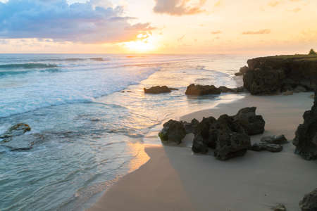 Beautiful sunset at Pantai Pero, Sumba Island, Indonesia