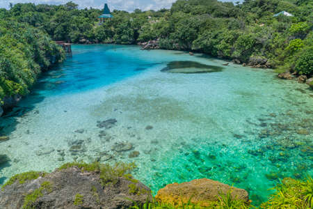 Turquoise color water at Danau Weekuri in Sumba Island, Indonesia