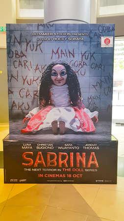 KUALA LUMPUR, MALAYSIA - OCTOBER 31, 2018: Sabrina movie poster. This is Indonesia horror movie starring Luna Maya