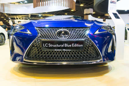 SINGAPORE - JANUARY 12, 2019: Lexus new LC Structural Blue Edition at singapore motor show Editorial