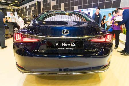 SINGAPORE - JANUARY 12, 2019: Lexus ES at the Singapore Motorshow Editorial