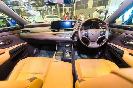 SINGAPORE - JANUARY 12, 2019: Interior from Lexus ES at the Singapore Motorshow